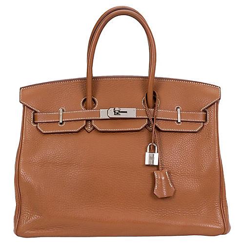 Hermès Gold Clemence Birkin Bag