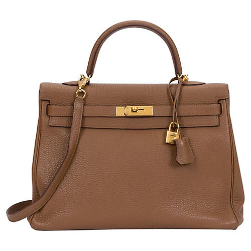 Hermès Noisette Gold Fjord Kelly Bag
