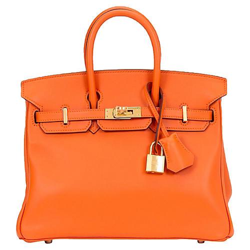 Hermès 25cm Swift Orange Birkin Bag