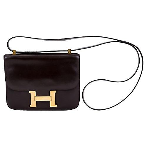 Hermès Brown Box Constance Crossbody Bag