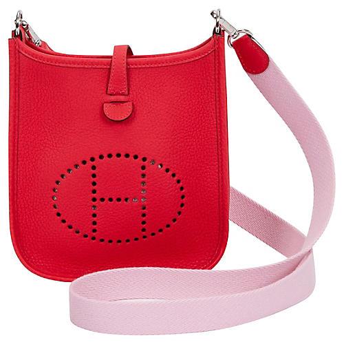 Hermès Mini Evelyne Rouge Pivoine/Sakura