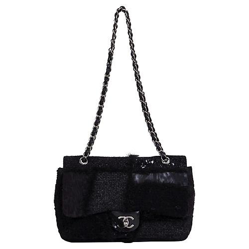 Chanel Black Patchwork Jumbo Flap Bag