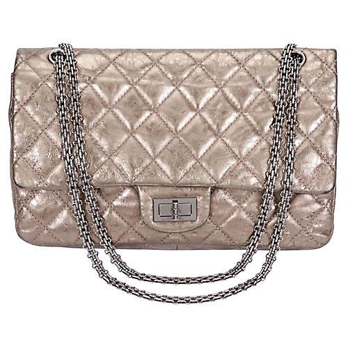 Chanel Pewter Jumbo Double Flap Bag