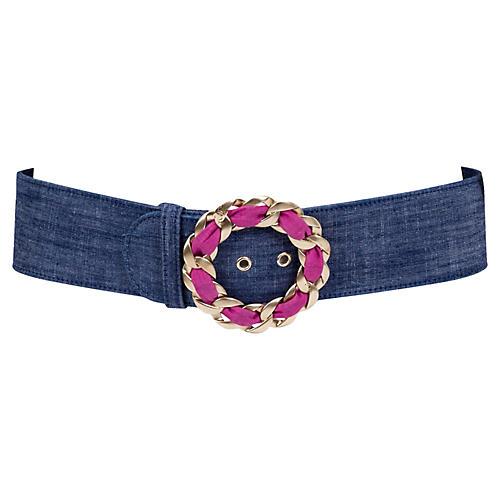 Chanel Denim & Chain Belt