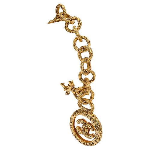 Chanel Lucite Logo Charm Bracelet, 1994