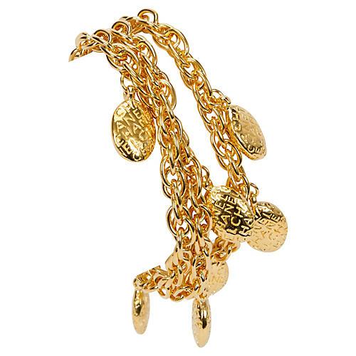 Chanel Triple Strand Nuggets Bracelet