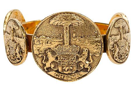 Chanel Tarots Coin Gold Cuff