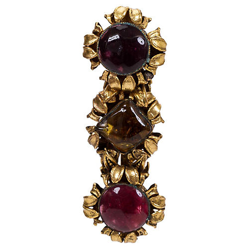 Chanel 1983 Triple Gripoix Pin