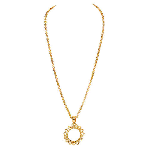 Chanel Flower Magnifier Necklace