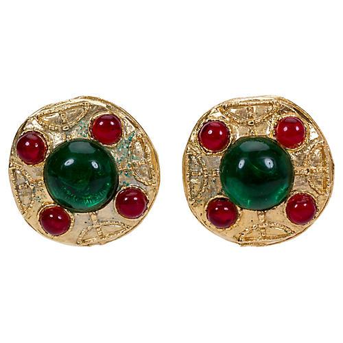 1980s Chanel Gripoix Earrings