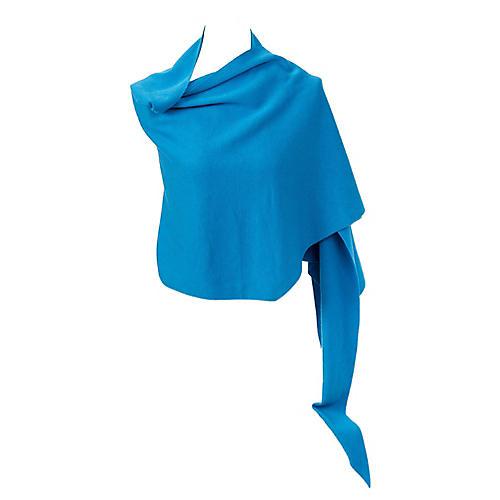 Hermès Blue Cashmere Silk Knit Shawl
