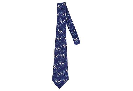 Hermès Silk Pheasant Tie