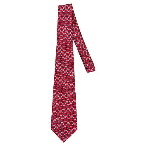 Hermès Red Navy Silk Tie