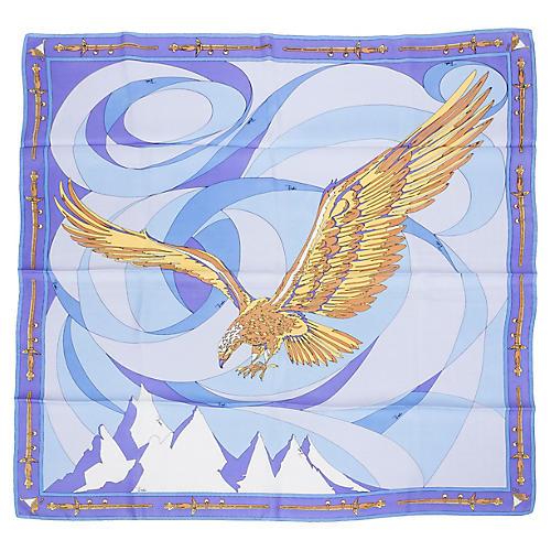 Pucci Silk Twill Eagle Print Scarf