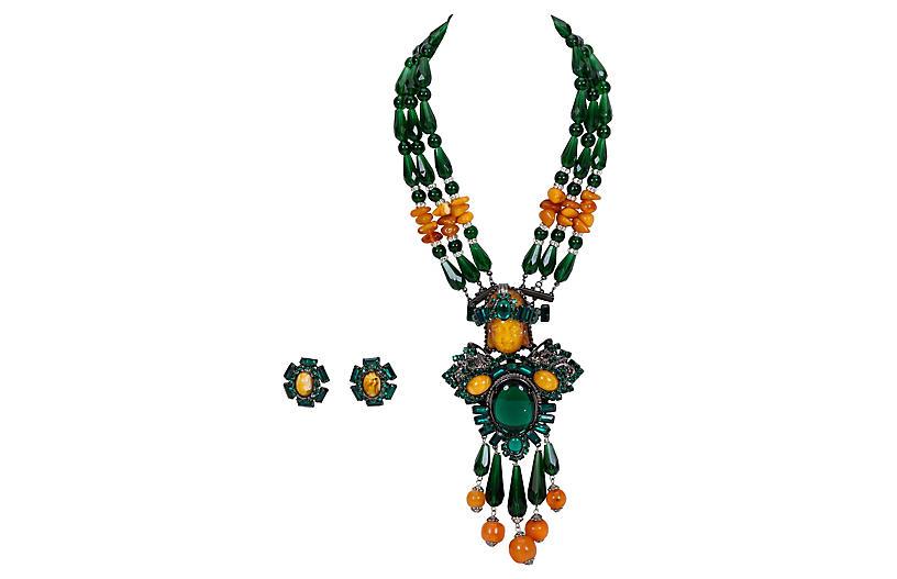 Vrba Emerald Carved Suite