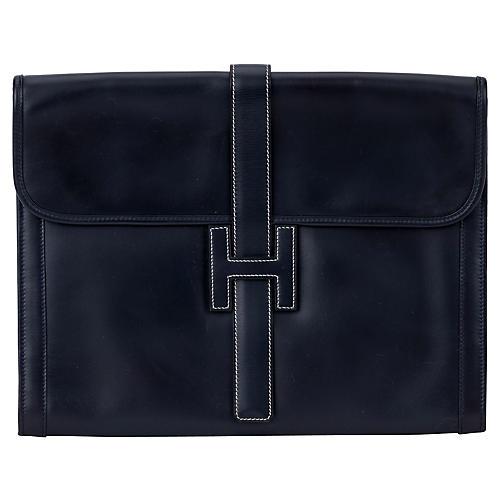 Hermès Oversize Box Calf Jige Clutch