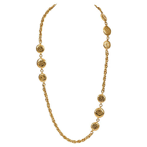 1970s Chanel Coin Sautoir Necklace