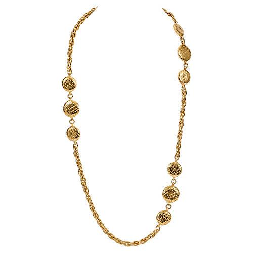 1970s Chanel Coin Sautoir Necklace