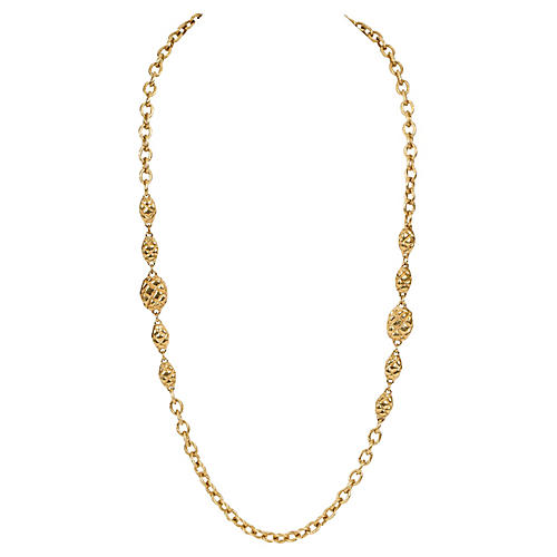 Chanel Nuggets Long Necklace Gold