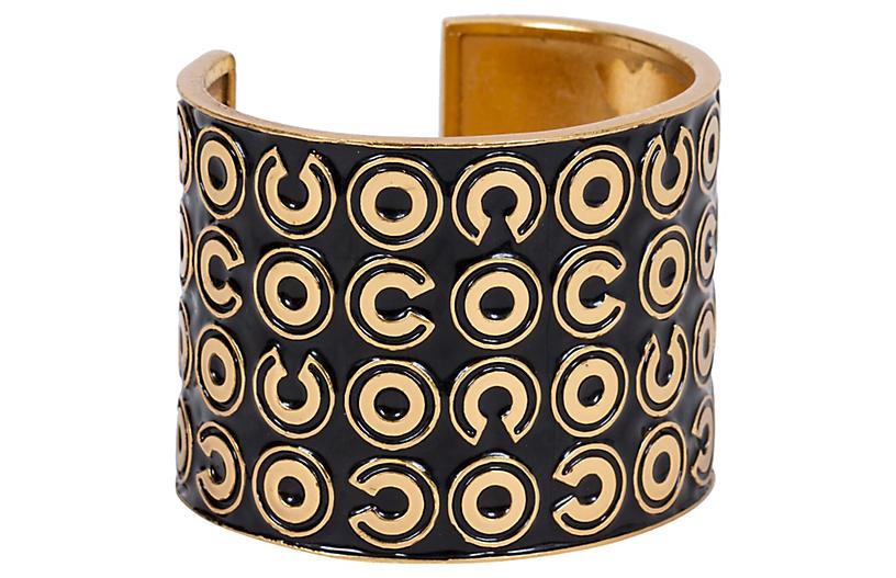 Chanel Black & Gold Vintage Cuff