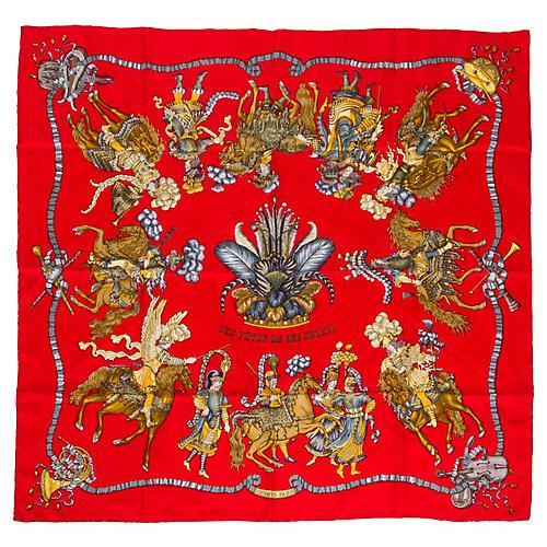 Hermès Les Fetes du Roi Soleil Scarf