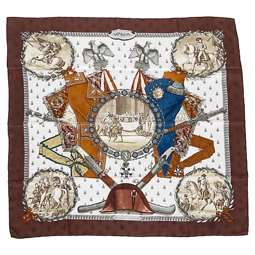 Hermès Brown Collectible Napoleon Scarf
