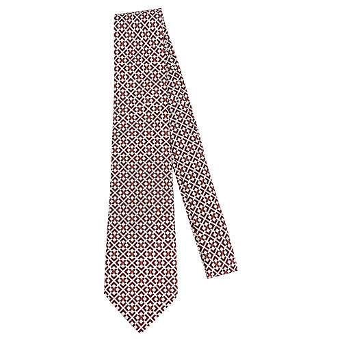 Chanel CC Geometric Silk Tie