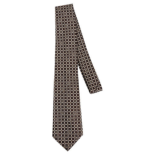 Chanel Chocolate Silk CC Logo Tie