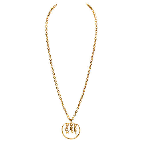 Chanel Dangling Letters Pendant Necklace