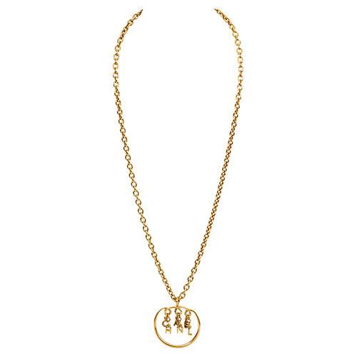 Chanel Dangling Letters Pendant Necklace