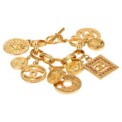 1990s Chanel Coco Charm Bracelet