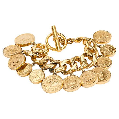Chanel 70s Chain & Coins Bracelet