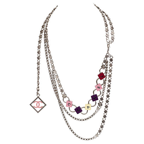 Chanel Silver Tone Triple Belt/Necklace