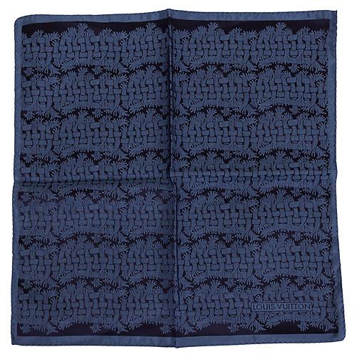 Louis Vuitton Silk Print Pocket Scarf