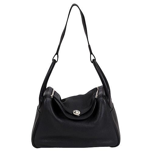 Hermés Black Clemence Lindy Bag