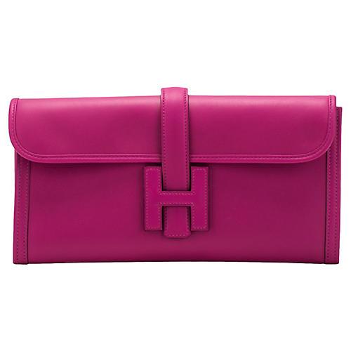 Hermès Rouge Pourpre Jige Elan Clutch