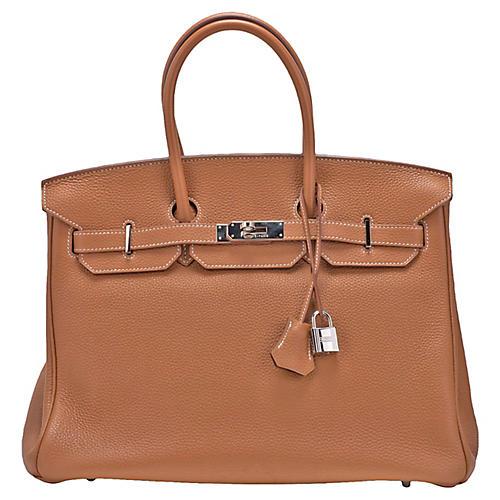 Hermès 35cm Gold Togo & Palladium Birkin