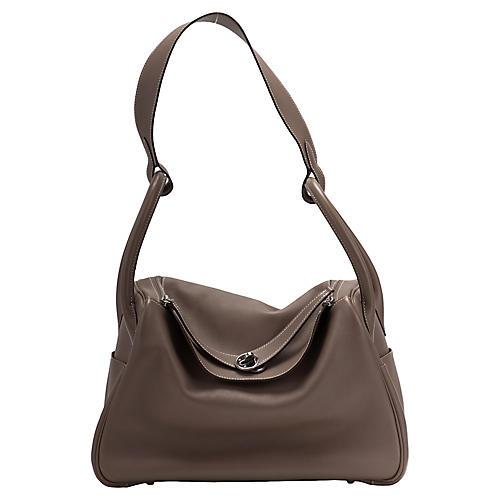 Hermès Etoupe Swift 34cm Lindy Bag