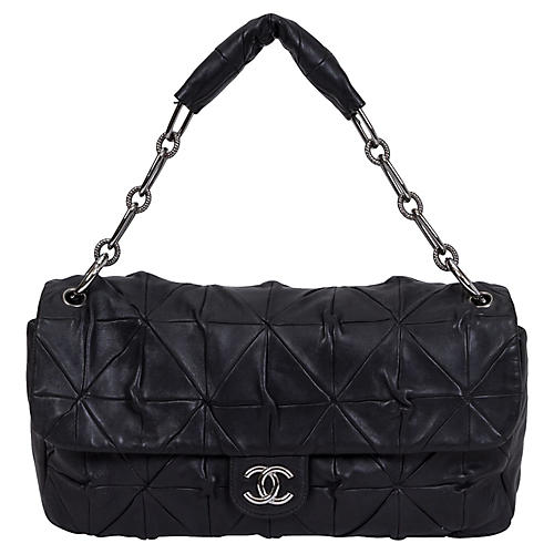 Chanel Maxi Black Origami Flap Bag