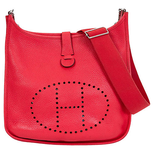 Hermès GM Rose Jaipur Clemence Evelyne
