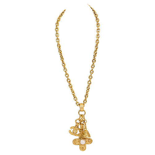Chanel Triple-Charm Florentine Necklace
