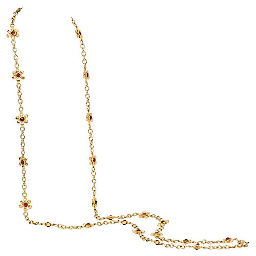 Chanel Gripoix Flower Necklace