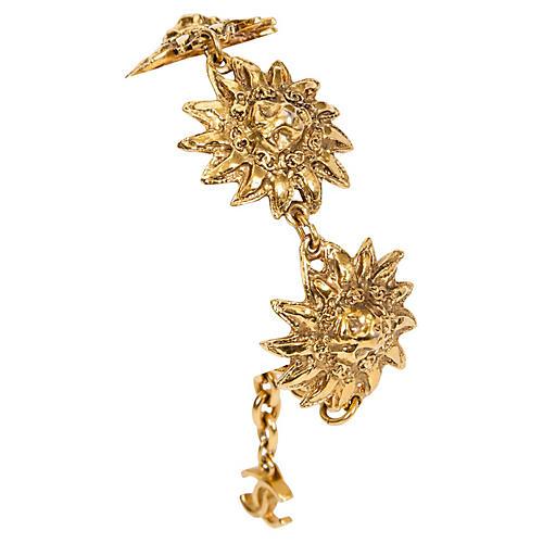 1980 Chanel Lion Bracelet