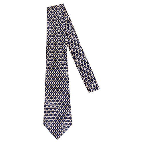 Chanel Silk Clover Tie