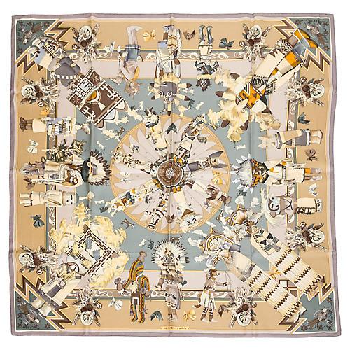 Hermès Kachinas Silk Scarf
