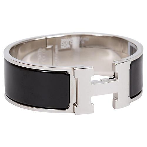 Hermès Black Clic Clac Bracelet