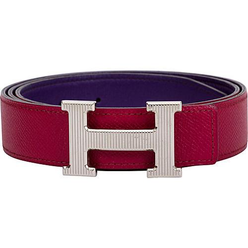 Hermès Ruby & Purple Reversible H Belt