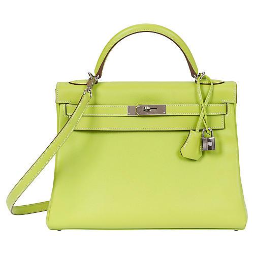 Hermès 32cm Candy Kiwi/Lichen Kelly