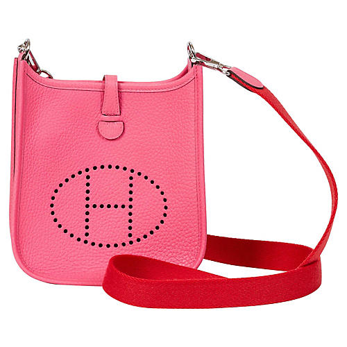 Hermès Rose Azalee/Pivoine Mini Evelyne