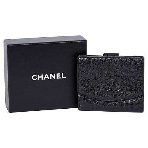 Chanel Black Caviar Bifold Wallet